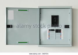 fuse box house stock photos fuse box house stock images alamy close up control box open on wall at home stock image