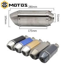 <b>ZS MOTOS</b> 38 <b>51mm</b> Motorcycle Motocross <b>Akrapovic</b> Exhaust Pipe ...
