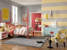 Decorations:Nice Decor Of Colorful Wall Painting Also Kids Room With Rainbow  Walls Plush Girls