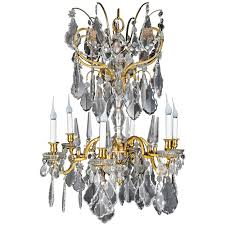 fine antique baccarat louis xvi style gilt bronze and cut crystal chandelier for