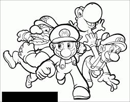 Mario Luigi Wario And Yoshi Mario Bros Kids Coloring Pages