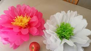 Tissue Paper Flower How To Make How To Make Tissue Paper Flowers Youtube