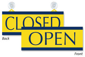office will be closed sign template open and closed signs open closed door signs