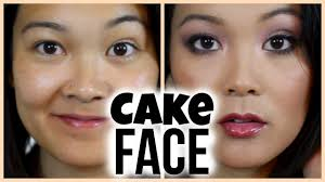 cake face makeup tutorial