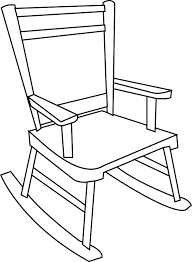 rocking chair drawing. Brilliant Drawing Coloriage  Imprimer  Un Rockingchair For Rocking Chair Drawing