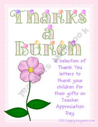 Thanks A Bunch Thank You Notes For Teachers Co Op And Home