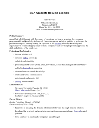 Mba Graduate Resume Sample Free Resumes Tips Within Examples - Sradd.me