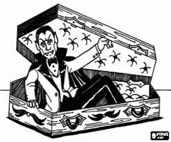 Kleurplaat Vampier Om Uit Zijn Doodskist Kleurplaten