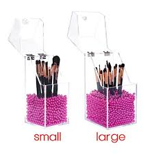 uk langforth makeup brush holder dustproof box premium quality 5mm thick acrylic organizer oragniser cosmetic storage makeup brushes storage gl
