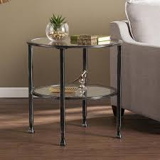 boston loft furnishings lea distressed black round end table at and decker workmate 400 f coffeetable