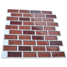 Brick Backsplash Tile 6 pack peel and stick brick backsplash tiles kitchen smart tiles 3258 by guidejewelry.us