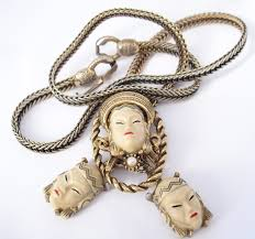 Tlc Jewelry Designs Vintage Selro Necklace Asian Princess Bolo Necklace With