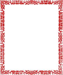 Red Potrait Border Clip Art At Clker Com Vector Clip Art
