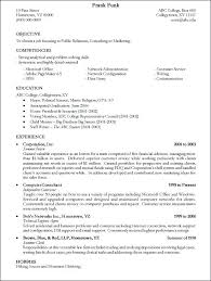 What To Include In A College Resume College Resume Good Examples