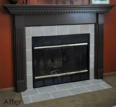 diy fireplace surround transformation