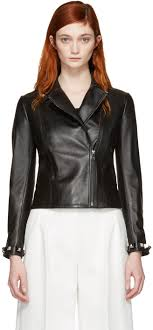 fendi black leather studded jacket women fendi hoo multicolor amazing selection