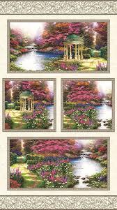 the garden prayer thomas kinkade wall quilt kit tap to expand