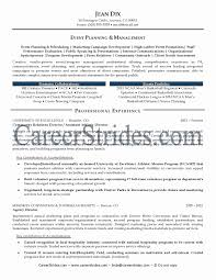 Event Coordinator Resume Sample Awesome Event Planner Resume