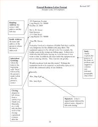 Printable Formal Letter Template Format Sample