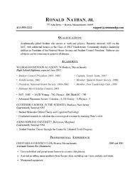 Sample Resume For Recent College Graduate Sample Recent College