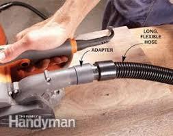 belt sander vs orbital sander. better dust collection. the bag on a belt sander vs orbital