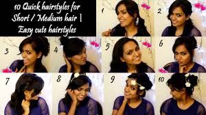 Cute Easy Medium Hairstyles How To 10 Quick No Heat Hairstyles For Short Medium Hair Easy