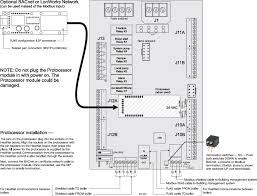 installation of optional bacnet or lonworks bridge protocessor for modbus operation