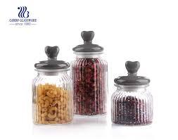 ion 1300ml clear glass food storage jar