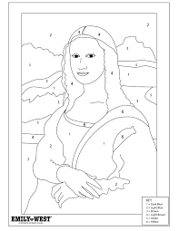 Mona Lisa Coloring Page 4 Ituniverse