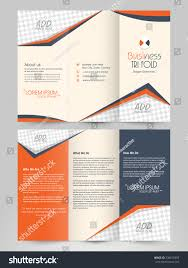 Presentation Trifold Front Back Presentation Professional Business Trifold Stock Vector
