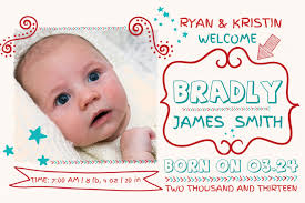 Template For Birth Announcement Customize 1 250 Baby Announcement Templates Postermywall