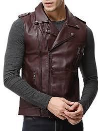 asymmetrical zip epaulet design faux leather vest 2xl
