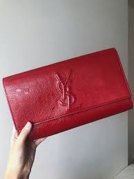 ysl belle du jour red patent leather clutch luxury bags wallets clutches on carou