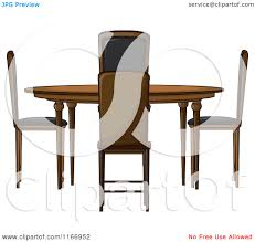 of a round dining room table and chairs royalty free vector clipart 2dutax clipart