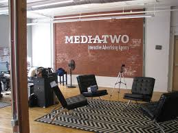 advertising office. Faux Brick Painting - Media Two Interactive Advertising Agency Raleigh, NC Office O