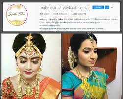 kav col min top 10 bridal makeup artists in chennai you should follow on
