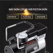 Máy bơm lốp xe hơi Máy bơm điện mini xách tay đa năng 12V Máy bơm xi lanh  đơn kim loại dành cho xe hơi