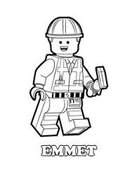 Small Picture The Lego Movie coloring pages Emmet an ordinary person a Lego