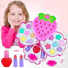safe non toxic children s cosmetics set diy makeup pretend play toys princess s make up games kids nail polish lipstick kit