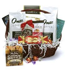 let it snow coffee gift basket