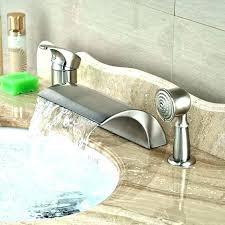bathtub waterfall faucet deck mount waterfall tub faucet deck mounted bath tub faucets luxury deck mount bathtub waterfall faucet