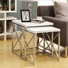 Nesting Tables Monarch Specialties I 3 Nesting Table Set Lowes Canada