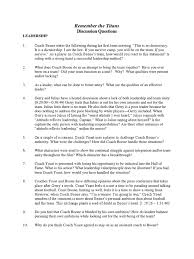 remember the titans discussion guide leadership leadership remember the titans discussion guide leadership leadership mentoring