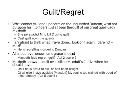 themes of macbeth introductory investigation for macbeth essay  4 guilt regret