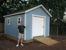 Storage Shed With Garage Door Front Elevation Sliding