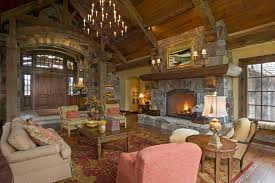 tung and groove living room rustic with area rug armchairs cabin