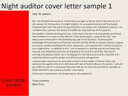 Night Auditor Cover Letter Night Auditor Cover Letter