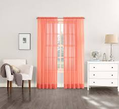 Coral Patterned Curtains Awesome Inspiration Design