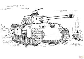 Panther Tank Coloring Page From Tanks Category Select From 27252