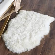 N Safavieh Handwoven Sheepskin Pelt White Shag Rug